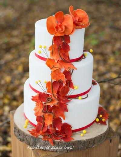 bruidstaart orchidee suikerbloemen blikenbloosfotografie
