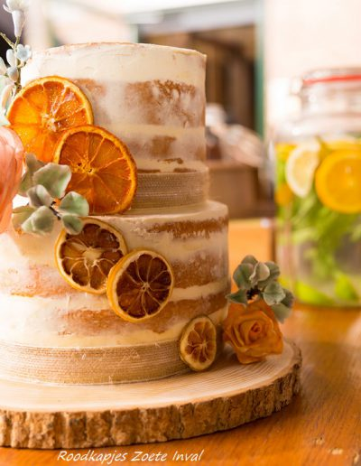bruidstaart seminakedcake suikerbloemen ikfotografie.nl