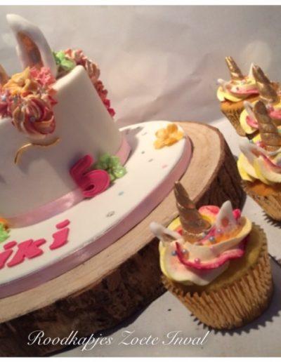 taart cupcakes unicorn eenhoorn