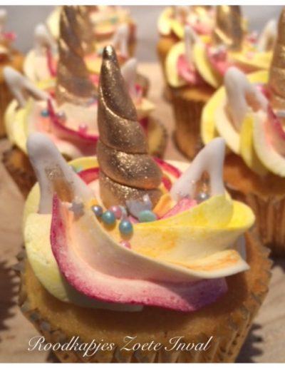 cupcakes kinderverjaardag taart unicorn