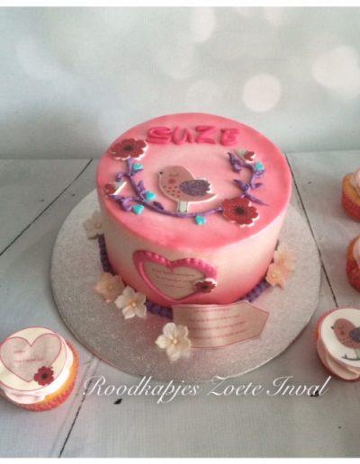 geboortetaart cupcakes babytaart