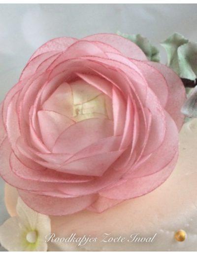 suikerbloemen bruidstaart bruiloft